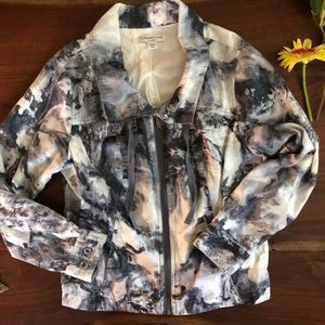Cold water Creek Watercolor Light Weight Jacket